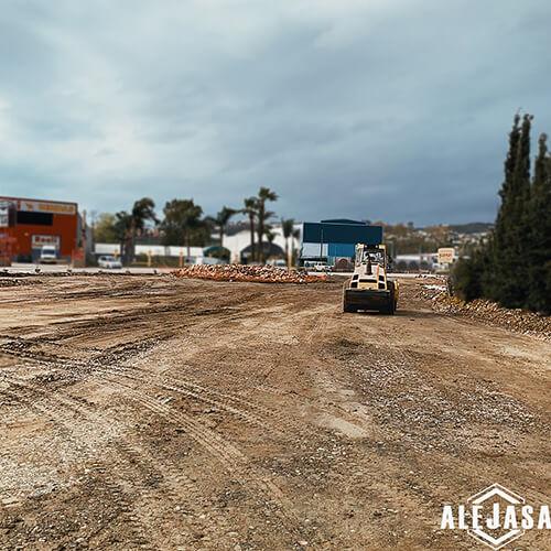 obra realizada por Excavaciones Alejasa en el paraninfo de Málaga