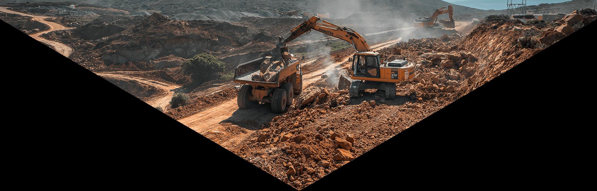 excavadoras-trabajando-en -las-canteras-de-Excavaciones-Alejasa